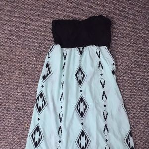 Selling a teal and black dress!